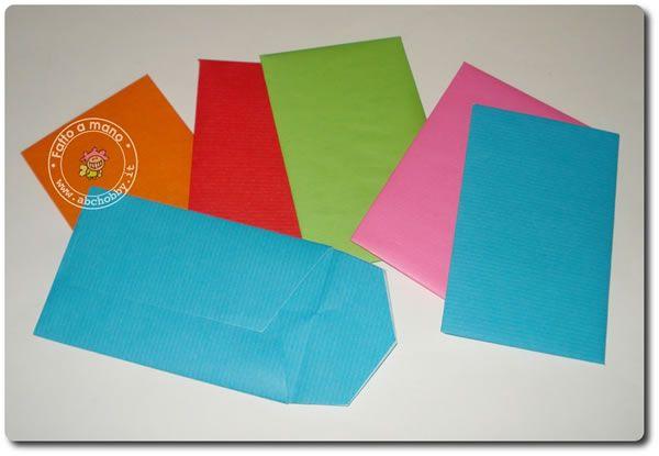 Buste di carta colorata