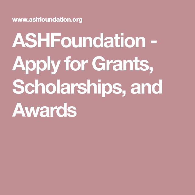 ASHFoundation - Apply for Grants, Scholarships, and Awards