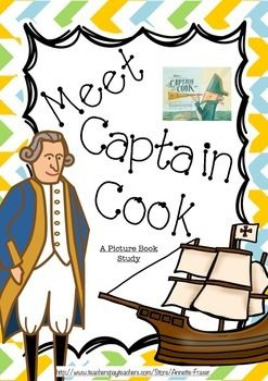 This picture book study for the book Meet Captain Cook by Rae Murdie and Illustrated by Chris Nixon. This book was listed on the book week short list in 2014. This Pack contains many activities relating to the book as well as a word wall. Some of these activities include - Diary entires from people involved in the expedition, drawn representations of the crew and ship, an expedition map, research into important dates of the expedition and finish with writing a report about the information…