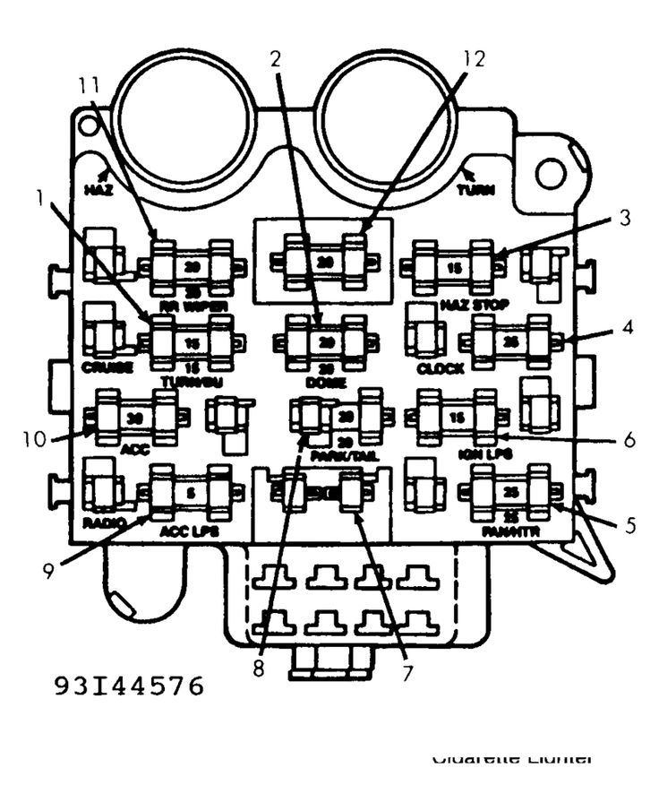 89 jeep wrangler fuse box diagram under dash fuses 1993 jeep wrangler | side there is jeep ... 95 jeep wrangler fuse box diagram