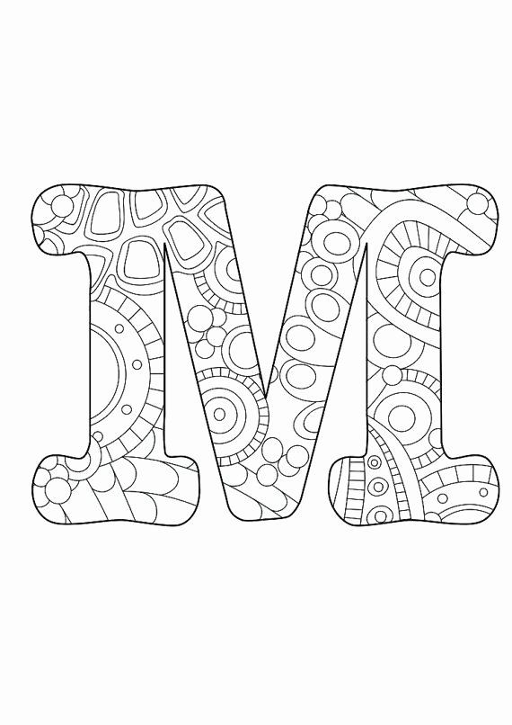 Color By Letters Coloring Pages New Letter M Funky Zentangle Inspiration Alphabet Coloring Pages Coloring Pages Coloring Letters