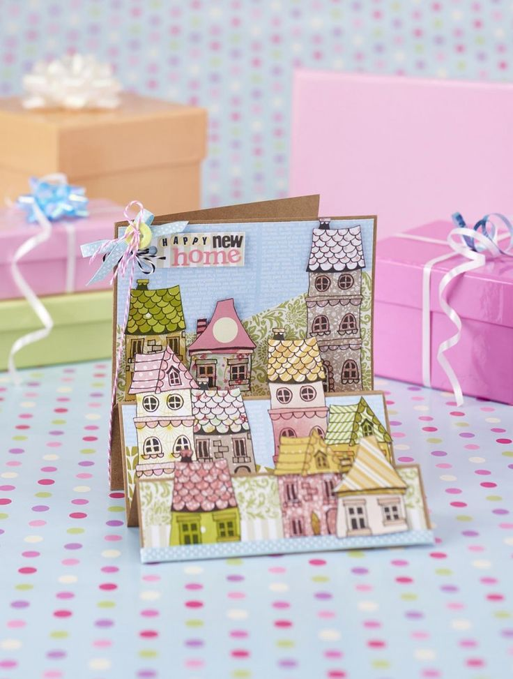 New home card from papercraft inspirations issue 149 for Paper craft home