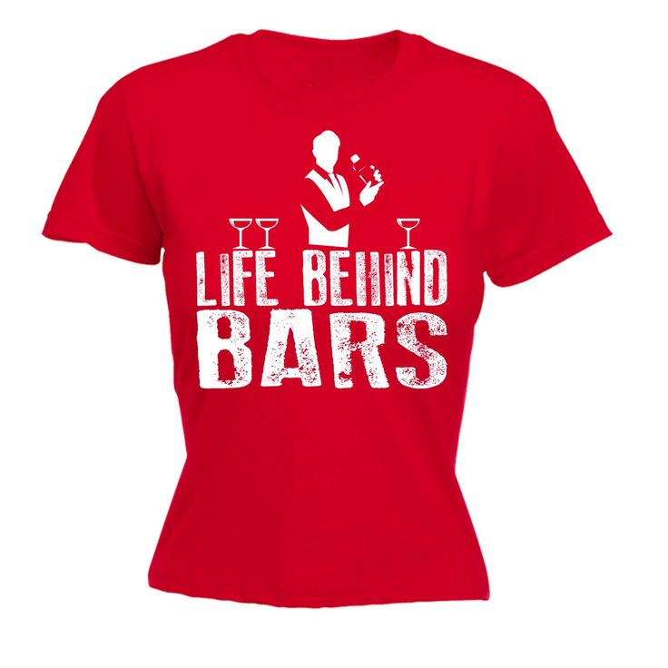123t USA Women's Life Behind Bars Bartender Funny T-Shirt