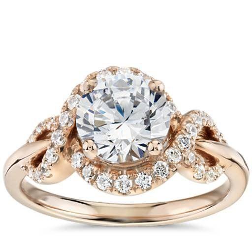 23d3f6b024797 Monique Lhuillier Timeless Twist Diamond Halo Engagement Ring in 18k ...