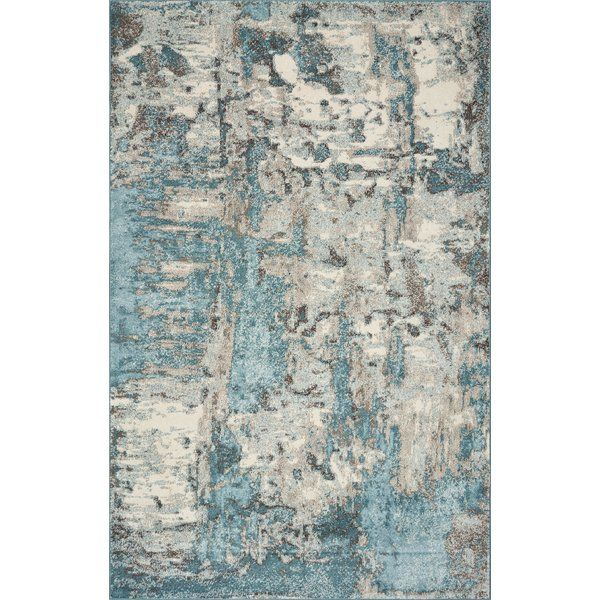 Strouth Teal Gray Area Rug Rugs Watercolor Rug Area Rugs
