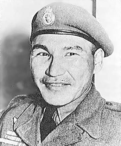 """Canadian War Hero. Born of Aboriginal descent to Henry and Arabella Prince of the Brokenhead Ojibwa Nation in Scanterbury, Manitoba, Thomas 'Tommy' Prince was one of Canada's most decorated War heroes of both the Second World War and the Korean War. 1968 film, """"The Devil's Brigade"""" was based on his units exploits."""