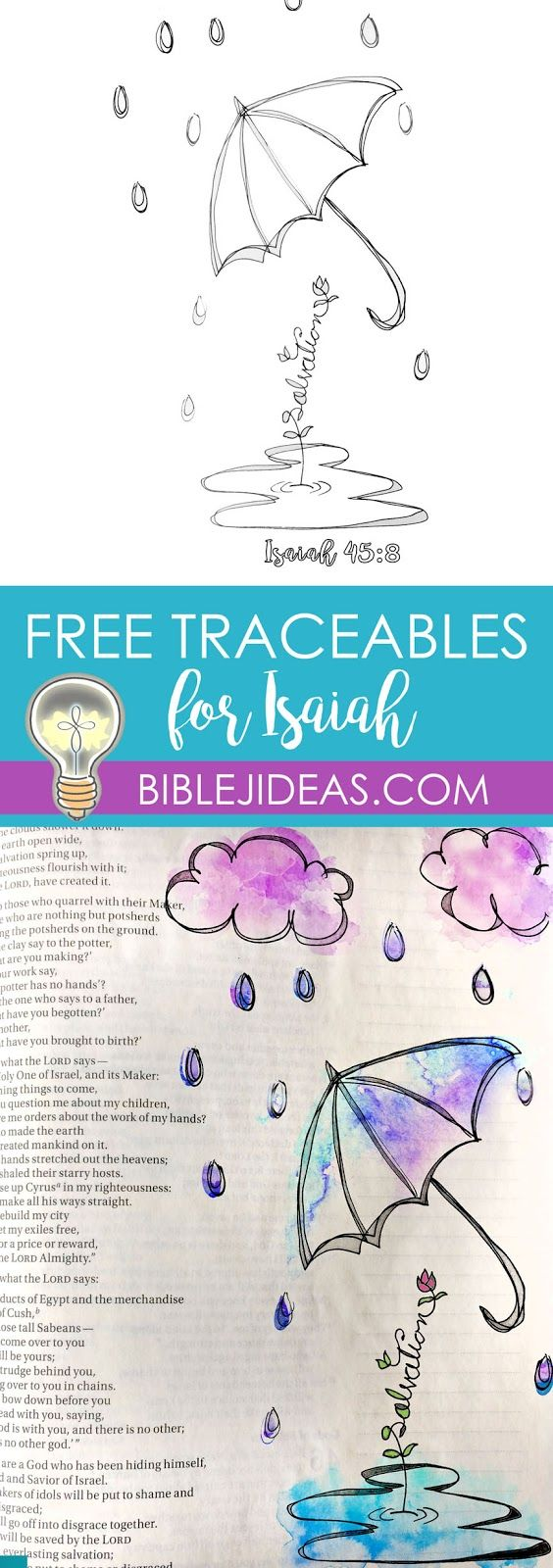 Bible Journaling Ideas for Isaiah