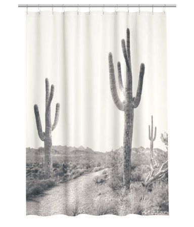 I absolutely need a saguaro cactus shower curtain