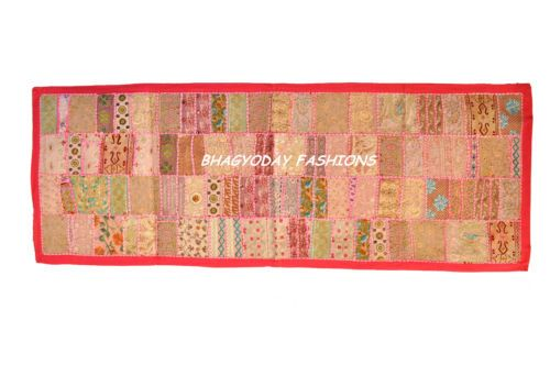 Ethnic India Traditional Patchwork Embroidery WallHanging Tapestry Vintage Decor