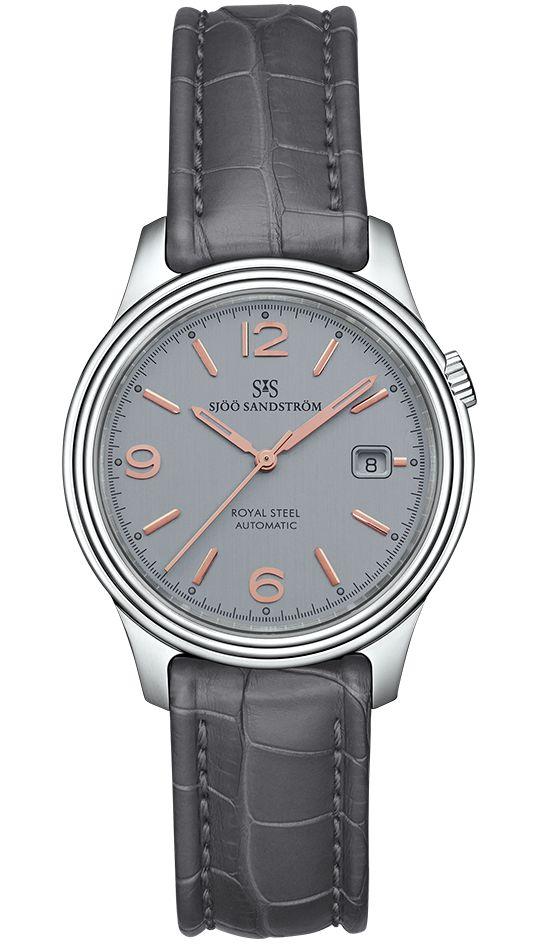 Royal Steel Classic 41 mm, grey rose gold dial with grey alligator. #sjöösandström #sjoosandstrom #watch #watches #sweden #classic