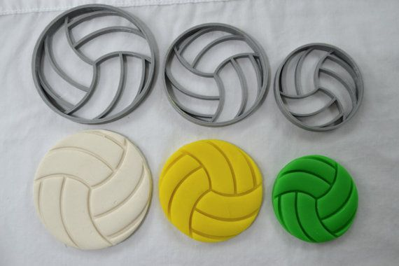 Hey, I found this really awesome Etsy listing at https://www.etsy.com/listing/193749316/volleyball-cookie-cutter-and-cupcake