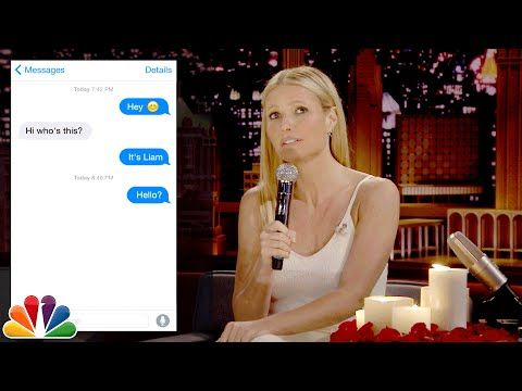 Gwyneth Paltrow & Jimmy Fallon sing awkward text messages on 'The Tonight Show Starring Jimmy Fallon' | TheCelebrityCafe.com