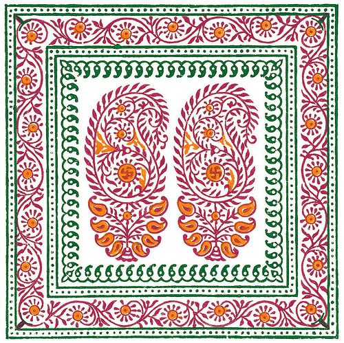 Hand-drawn Indian textile patterns on from BibliOdyssey.