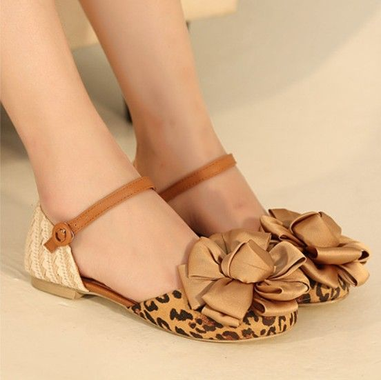 Casual sandals flower decoration mary jane flat shoes