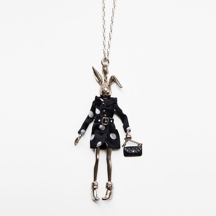 Servane Gaxotte Large Couture Grey Gold Bunny :: Bird Boutique :: shopbirdboutique.com