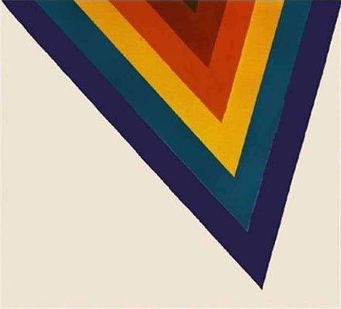 Kenneth Noland stretched post painterly abstraction into tension-heightening pinpoints in 1964's 'Bridge.'