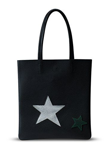 New Trending Shopper Bags: Clothink Women Tote Shoulder Bags Waterproof Synthetic Leather Black Star Print Casual Shopper Handbags. Clothink Women Tote Shoulder Bags Waterproof Synthetic Leather Black Star Print Casual Shopper Handbags  Special Offer: $19.99  455 Reviews Product Introduction: This tote bag is made of High Quality Synthetic Leather. Looks luxury and quality promised. Great price and color, everthing...
