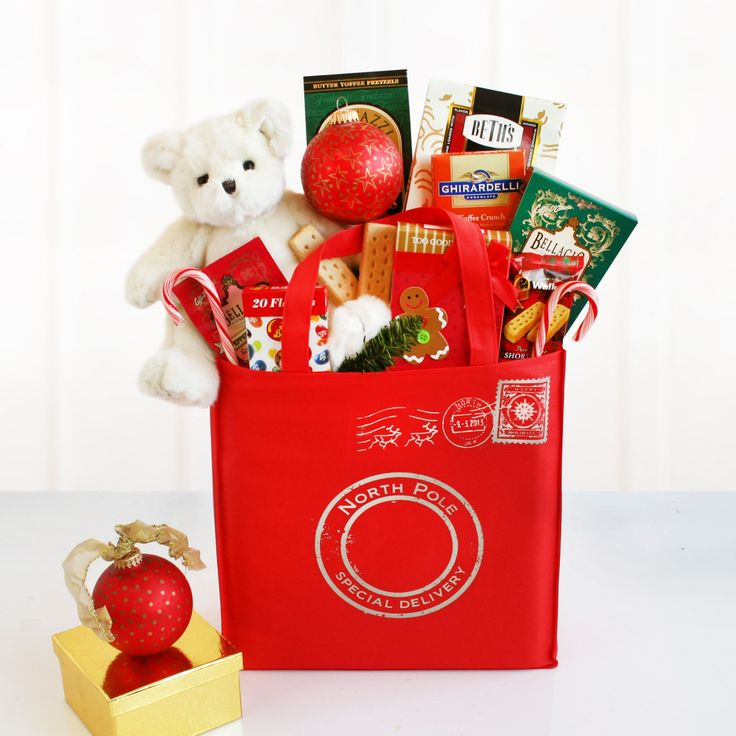 North Pole Special Delivery Holiday Tote Gift Basket - 5514