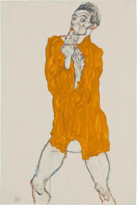 Selbstbildnis Egon Schiele 1914