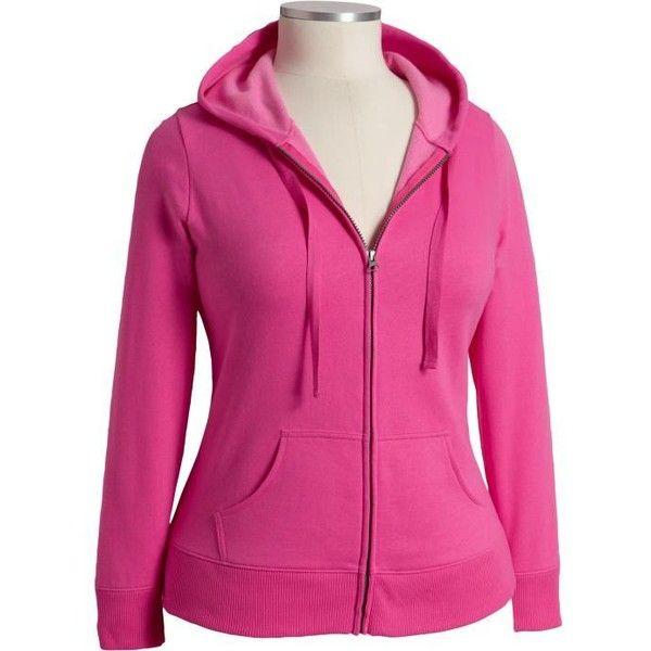 Old Navy Womens Plus Fleece Zip Hoodies (76 BRL) ❤ liked on Polyvore featuring tops, hoodies, women, hooded sweatshirt, zipper hoodie, plus size hoodies, pink hooded sweatshirt and plus size hooded sweatshirt
