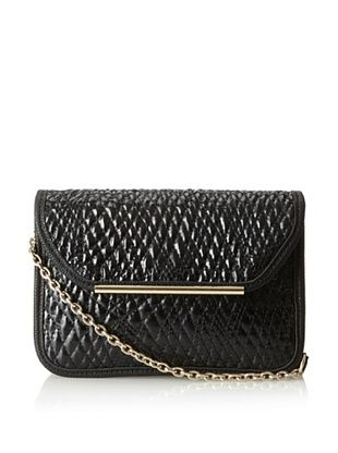 61% OFF Ivanka Trump Women's Crystal Quilted Glaze Small Shoulder Flap Bag, Black