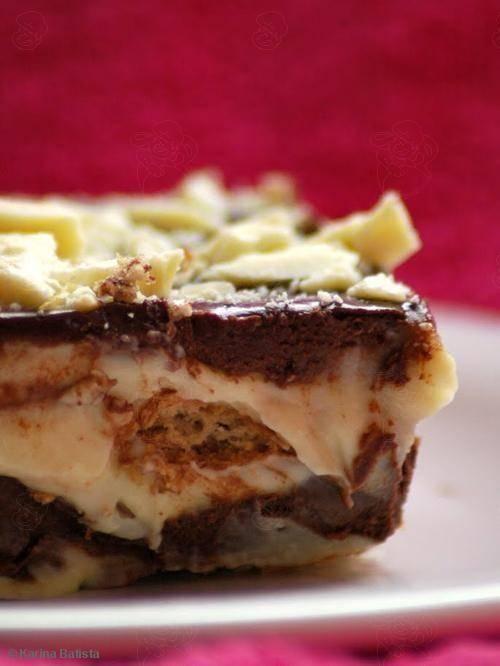 Aprenda a preparar a receita de Pavê de baunilha e chocolate