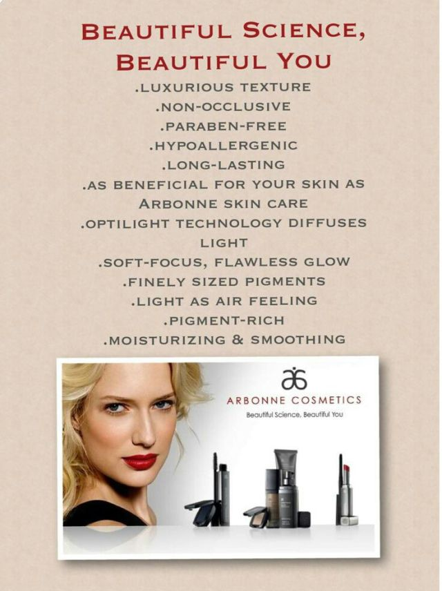 Arbonne Makeup - used by professionals on major TV shows