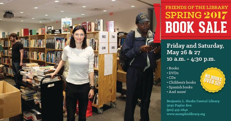 Get a truckload of books for less at the Friends of the Library Spring Book Sale, where a few bucks will go a long way! Mark your calendar for Friday, May 26 and Saturday, May 27, 10 a.m. - 4:30 p.m. at the Benjamin L. Hooks Central Library (3030 Poplar Ave.).  All items are priced at $2 or less! For a complete price list and more information, call (901) 415-2840 or visit…