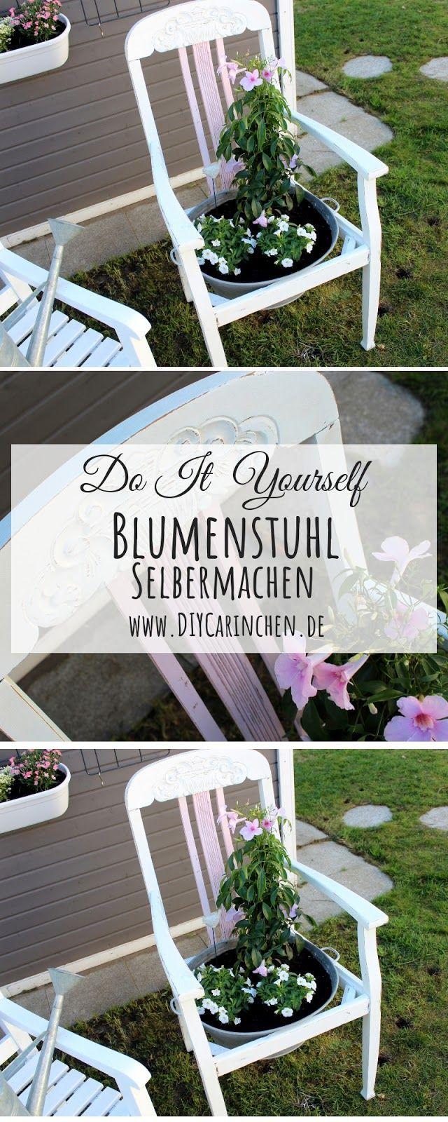 Diy Blumenstuhl In Shabby Chic Ganz Einfach Selber Machen