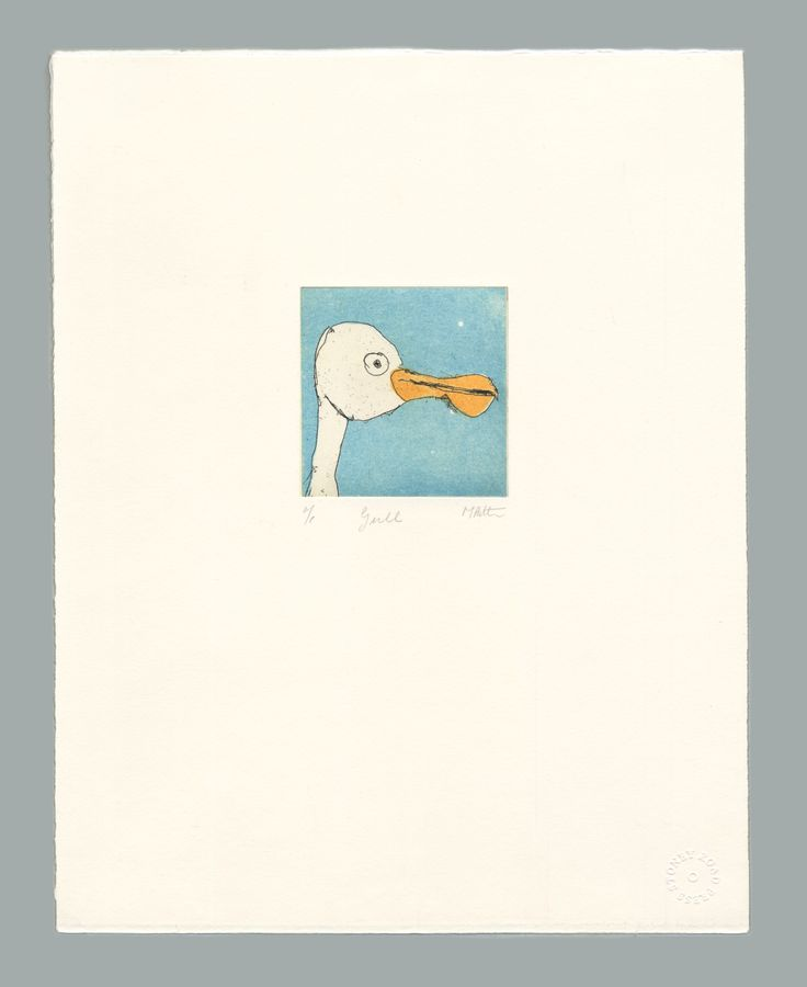 'Gull' by Michael Patten, 2016 Intaglio print on Zerkall 350 gsm paper.  Sheet size 33 x 42.5cm