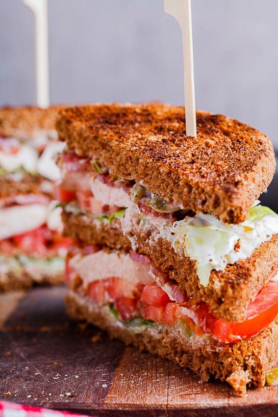Jalapeño mayo on BLT Club sandwich
