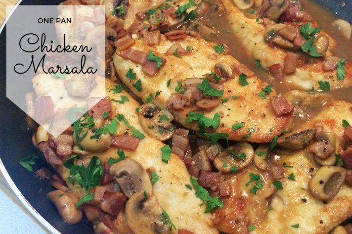 Super Easy One Pan Chicken Marsala Recipe