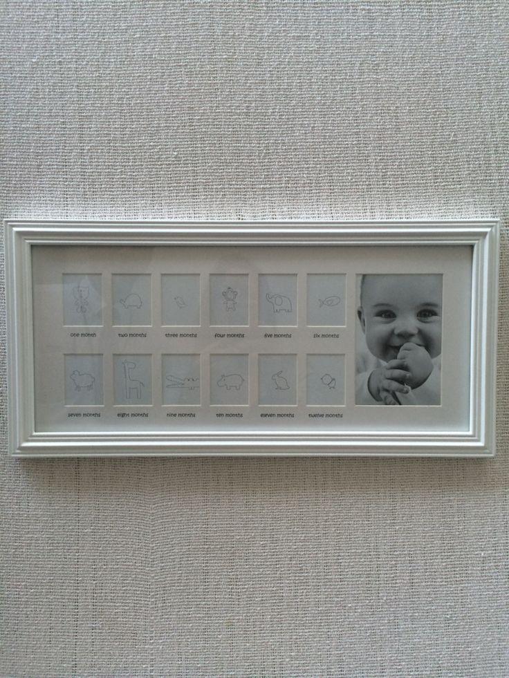Quadro para fotos do bebe do nascimento ate 1ano
