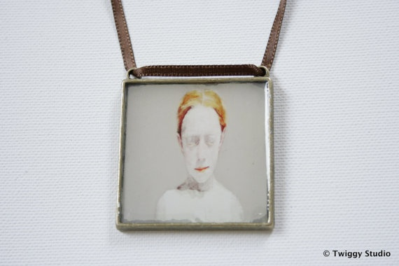 RED HAIR GIRL pendant by TwiggyStudio on Etsy, €40.00