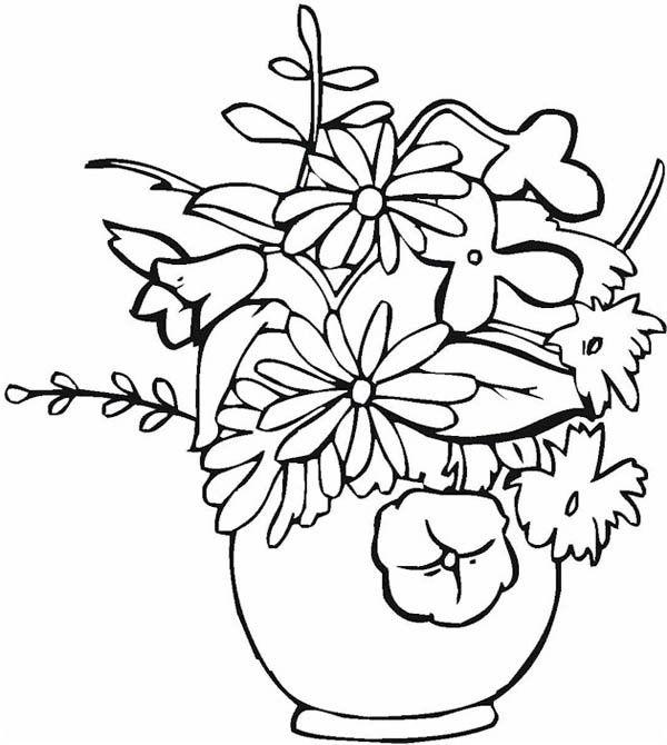 Floreros 6 Dibujos Faciles Para Dibujar Para Ninos Colorear Flores Para Dibujar Florero Dibujo Floreros
