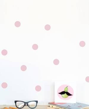 Wandsticker Punkte 40 Stück rosa