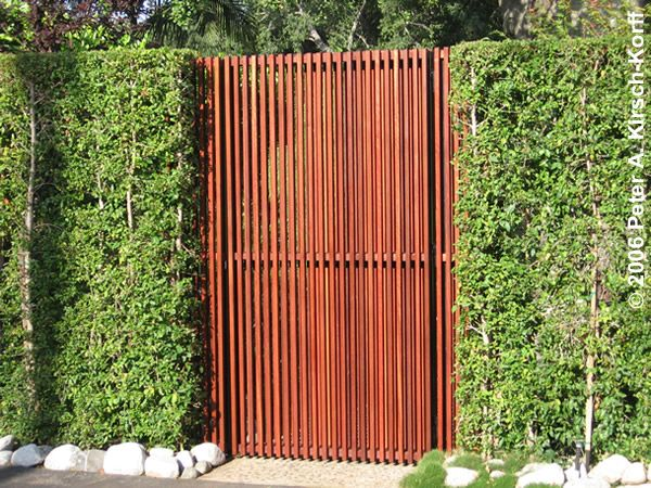 Modern Vertical Slat Mangaris TM Entry Gate - Serving Pasadena, Monrovia, La Canada Flintridge, Claremont and the San Gabriel Valley