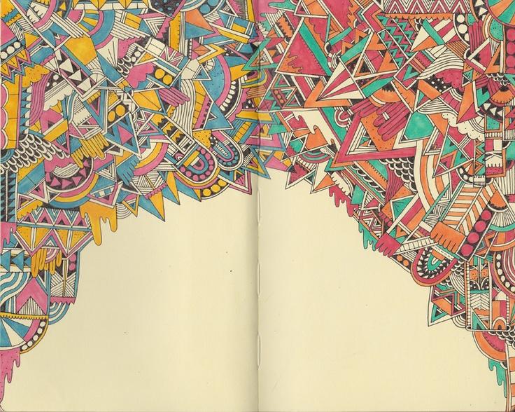 Nice sketchbook pages by Sophie Roach.