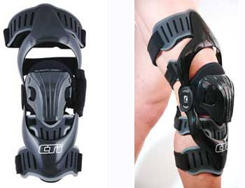 Ossur CTi OTS Motocross Kit- This knee brace's carbon frame provides a rigid exoskeleton that stabilizes the knee joint. It is created with anatomically-correct Accutrac hinges and flexible cuffs and buckles.