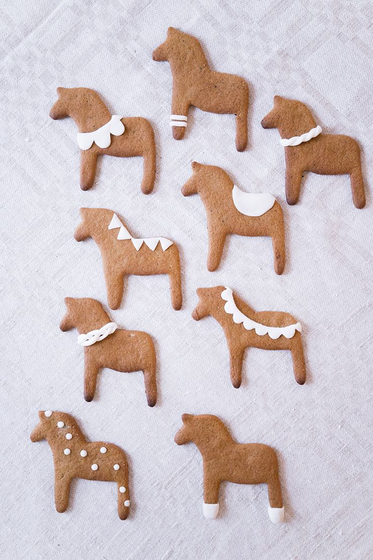 Gingerbread decorations.