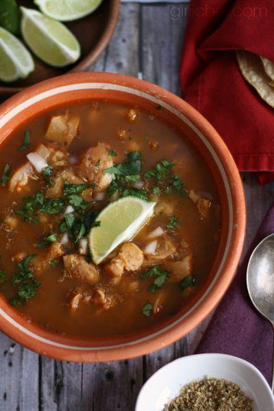 Menudo (Red Chile Tripe Soup) #mexico [http://en.wikipedia.org/wiki/Menudo_(soup)]