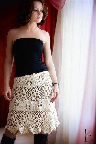 crochet knee skirt made to order | marifu6a - Clothing on ArtFire