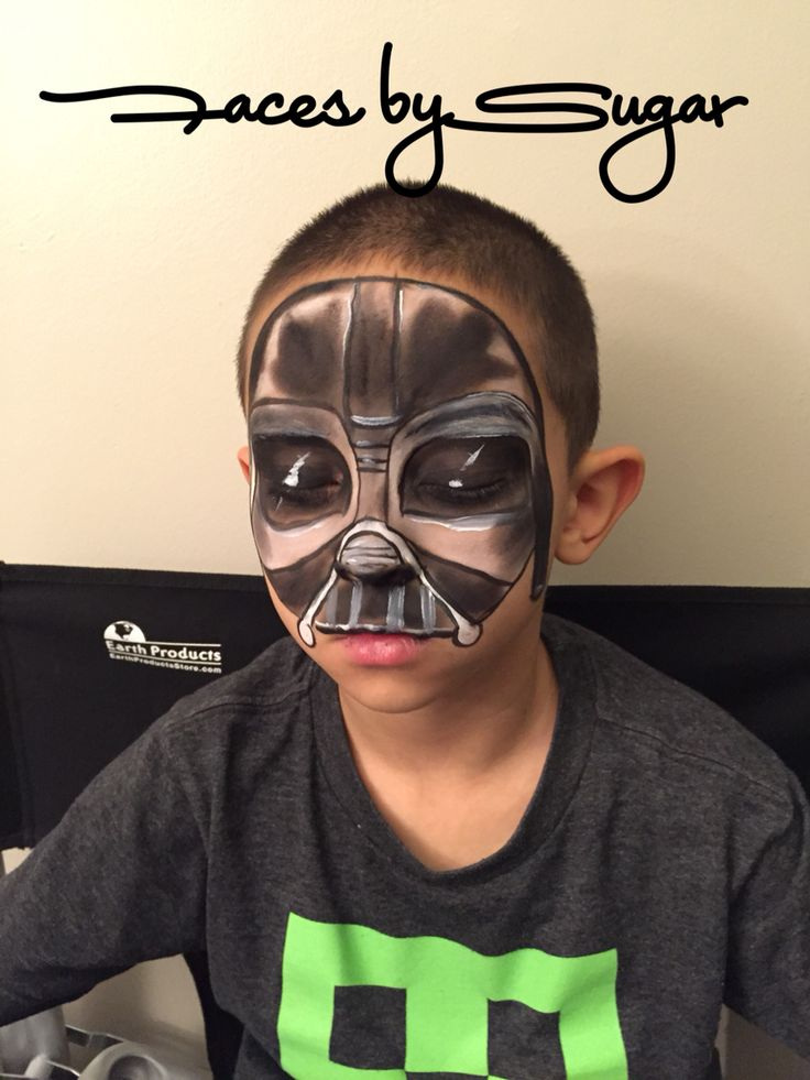 Darth Vader face painting