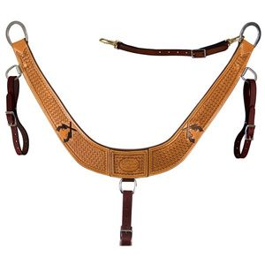 Leather Breast Collars & Crupper - Reinsman - Six Shooter Breast Collar - The Stagecoach West