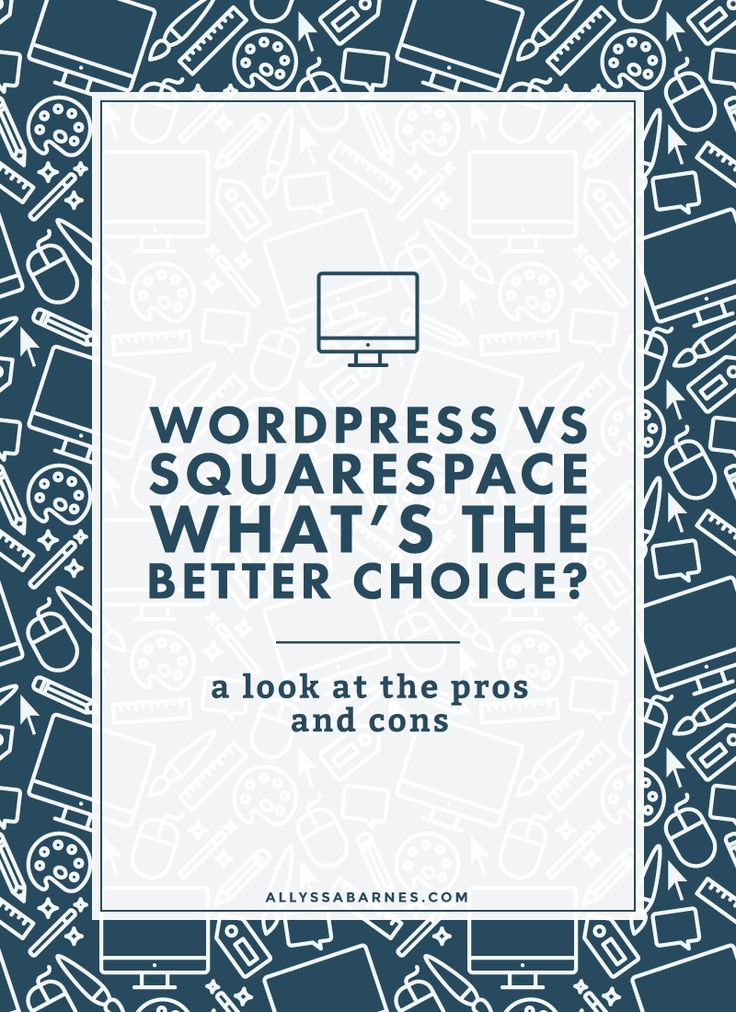 WordPress vs Squarespace: Which is the Best Choice For You? | WordPress and Squarespace fans both say their blogging platform is better. But is that true? Let's take a look of the pros and cons of WordPress vs Squarespace. Click on through to read more.