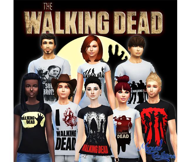 Miguel Creations TS4: Camiseta The Walking Dead (TWD) - Unissex
