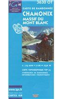 Books/Maps- Various publishers 3630 OT Mont Blanc 1:25 000