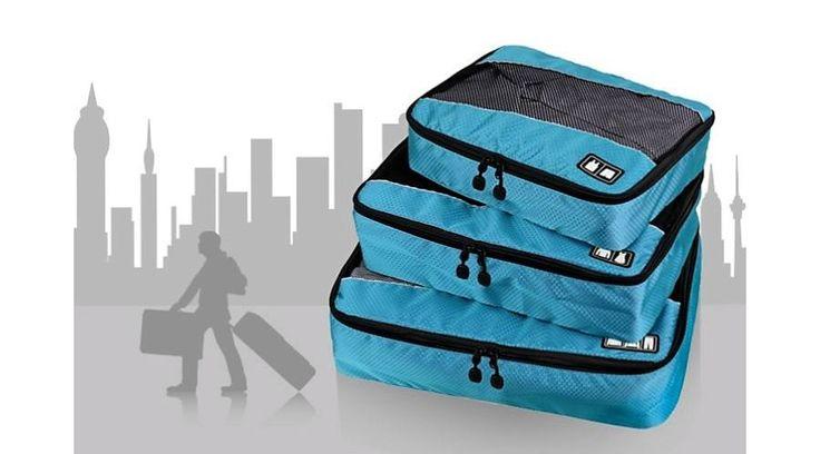 Utazási kiegészítő - 3 részes bőrönd rendszerező szett - Bőrönd rendszerezők Ezt ki kell próbálni. Ötletesnek tűnik.