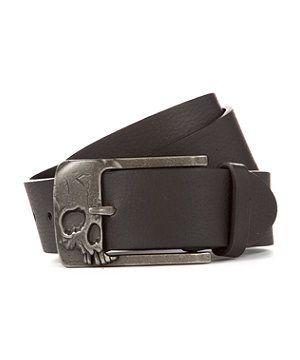 Black (Black) Black Skull Buckle Belt | 270601101 | New Look