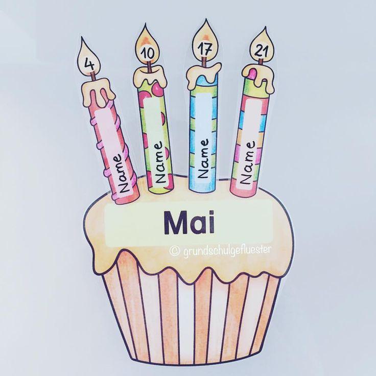 """Fertig ist der Geburtstagskalender Ich habe alles einzeln laminiert und die Kerzen mit einem Permanent-Marker beschriftet - mit Nagellackentferner geht der ganz schnell wieder zu entfernen  die Schnippelarbeit lohnt sich also ✂️ Die Bilder sind von #katehadfield aus dem Paket """"BringOnTheCake"""" und """"CalendarYearEU"""" #mai #geburtstagskalender #cupcake #happybirthday #cupcakecalendar #katehadfield #klassenraumgestaltung #klassenraum #grundschulideen #grundschule #primary #primaryschool #..."""